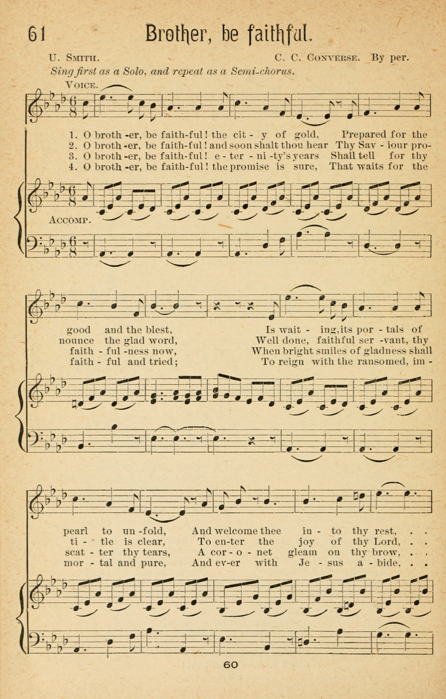 THE TRANSFORMATION OF THE HYMN 'O BROTHER, BE FAITHFUL' | Hymns for